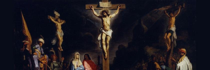 Crucifixion by Dutch painter Rembrandt Harmenszoon van Rijn (1606-1669)