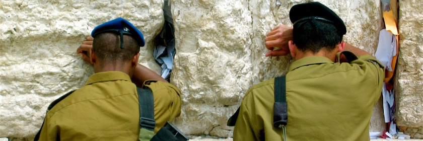 Soldiers with Israel's defense forces praying at the Wailing Wall in Jerusalem. Photo: Mor/Flickr/Creative Commons