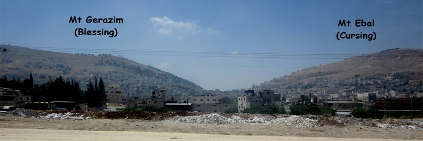 Mt Gerazim on the left and Mt Ebal on the right. Photo: Tom Miller/Flickr/Creative Commons