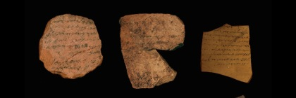 Three of the pottery shards from Arad Fortress revealing troop movement and costs for fort provisions. Photo credit:PNAS, Faigenbaum-Golovin et al