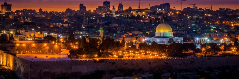 The Temple Mount and Dome of the Rock in Jerusalem seen from the Mount of Olives. Photo: Boris G./Flickr/Creative Commons