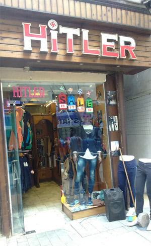 Hitler Store front in Cairo, Egypt Source: Gulf News
