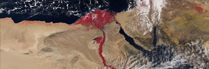 NASA's blood-red Nile River Photo: NASA/European Space Agency