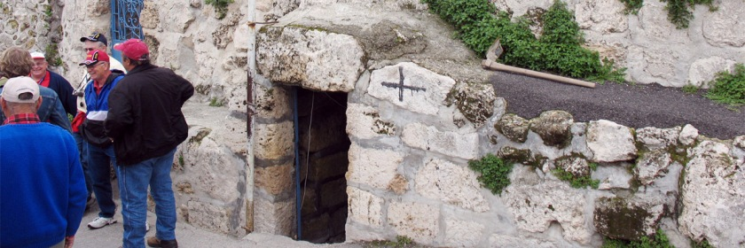 The traditional spot believed to be the Tome of Lazarus in Bethany located two miles outside of Jerusalem. Photo: Marion Doss/Wikipedia