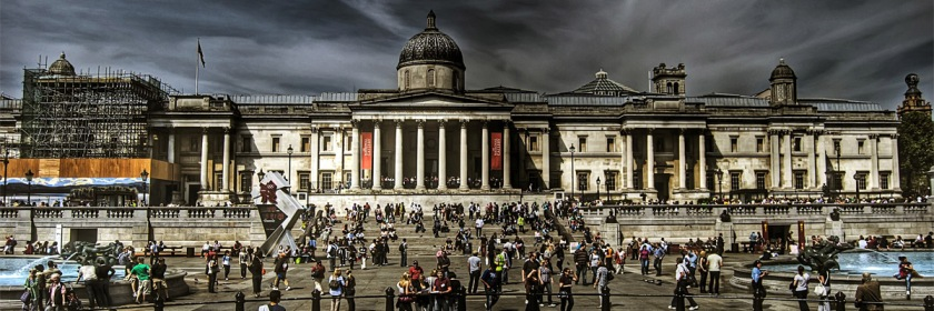 The Baal arches scheduled to be set up in London's Trafalgar Square have been cancelled. Photo: Trafalgar Square by Hector Rodriguez/Flickr/Creative Commons