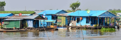 Houseboats on Tonie Sap River in Cambodia Photo: Brian Hoffman/Flickr/Creative Commons