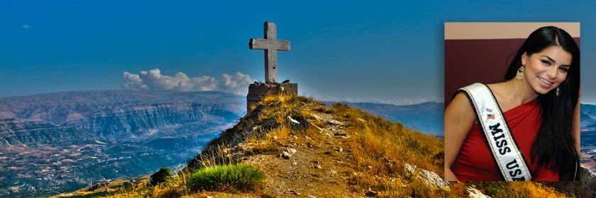 Cross overlooking a valley in Lebanon Photo: Paul Saad/Flickr/Creative Commons Insert Photo: Rima Fakih/Wikipedia/US Army