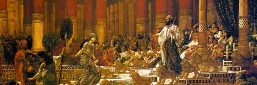 Was David's son -- King Solomon -- affected by a generational curse in David's family. Image: Queen of Sheba visiting King Solomon by Edward Poynter (1836-1919)/Wikipedia