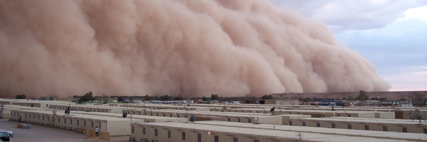 Middle East dust storm. Photo: diogo.saravia/Flickr/Creative Commons