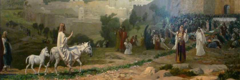 Jesus entering Jerusalem for the last time by Jean Leon Gerome (1897) Wikipedia