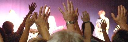 A church worship service. Photo: Joachim S. Muller/Flickr/Creative Commons
