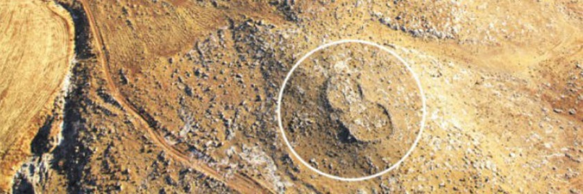 A photo of a Gilgal site revealing its distinctive sandal shape. Photo: Society for the Protection of Nature in Israel