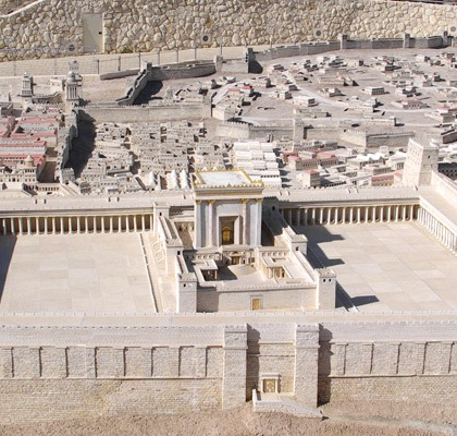 Model of Herod's Temple at the Israel Museum. Photo: Berthold Werner/Wikipedia