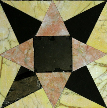 Star pointed tile from the Second Temple (Photo: Temple Mounts Sifting Project/Zachi Dvira)