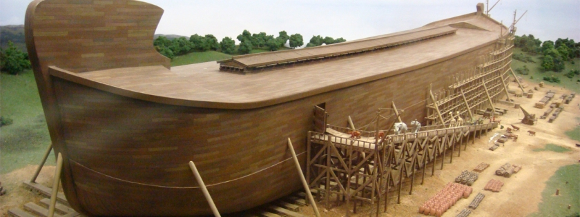 Noah's ark in Biblical Theme park in Kentucky. Credit: Adam Lederer/Flickr/Creative Commons