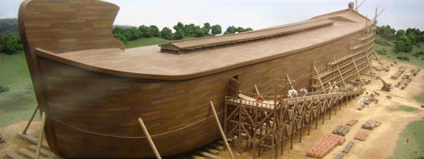 Noah's ark in Biblical Theme park in Kentucky. Credit: Adam Lederer/Flickr/Creative Commons