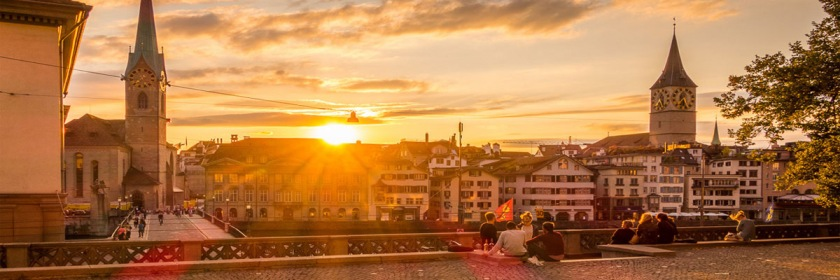Fall sunset over Zurich, Switzerland. Photo: Werner_B/Flickr/Creative Commons