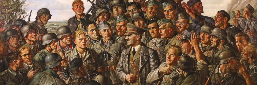 Propaganda painting of Adolph Hitler at the front (1942-43). Credit: James Vaughan/Flickr/Creative Commons
