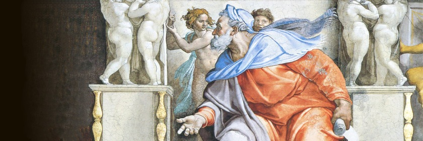 Prophet Ezekiel on the ceiling of the Sistine Chapel by Michelangelo (1476-1564) Credit: Wikipedia