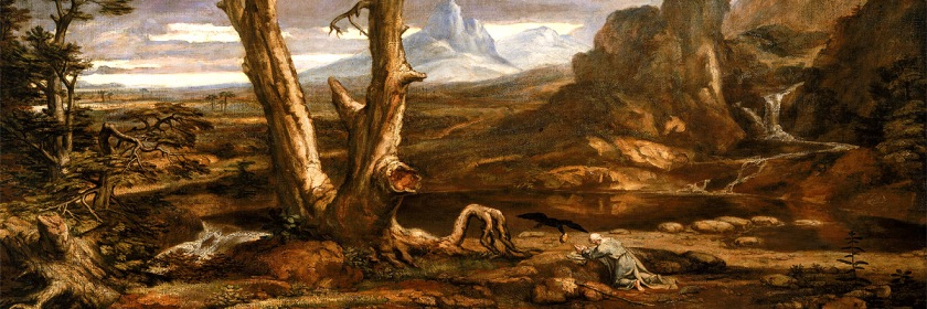 The Prophet Elijah in the wilderness being fed by crows after fleeing Jezebel by Washington Allston (1779 - 1845) Credit: Wikipedia