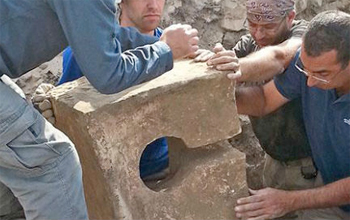 Toilet from Lacish found in a Baal Shrine. Credit: CBN/Israel Antiquities Authority