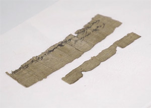 Papyri with the oldest extra-Biblical reference to Jerusalem. Credit: Youtube capture -- Israel21cdotcom
