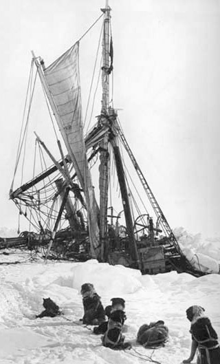 Sinking of Shackleton's ship Endurance in November 2015: Credit Wkipedia