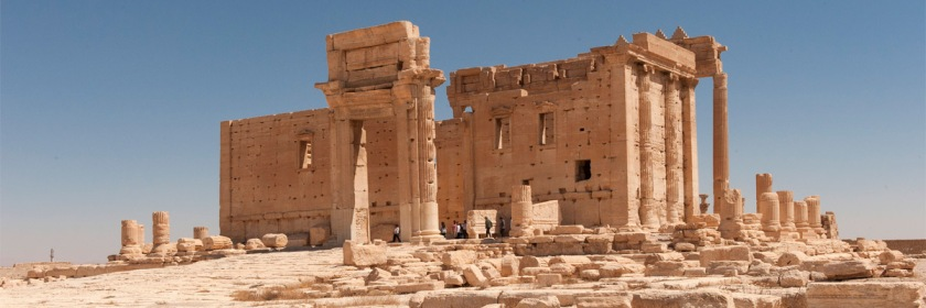 Temple of Bel (Baa)l at Palmyra, Syria prior to its destruction by ISIS in 2015 Credit: Egisto Sani/Flickr/Creative Commons