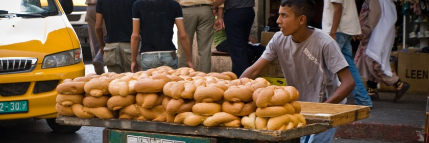 Transporting bread in Bethlehem Credit: David Ortmann/Flickr/Creative Commons