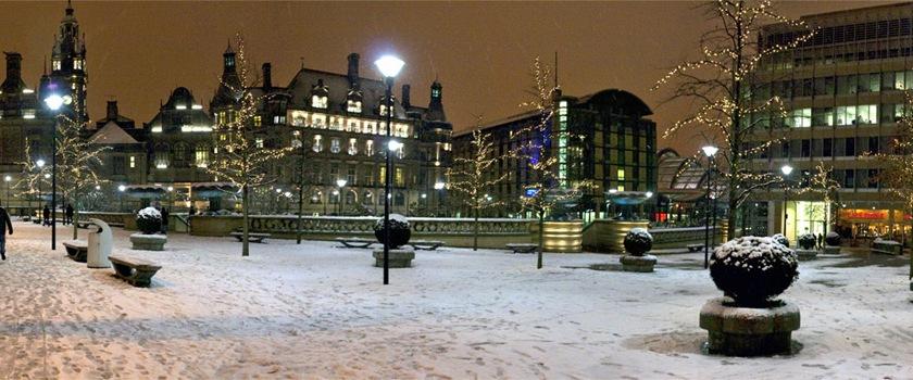 A wintry day in Sheffield, England. Credit: Wojtek Gurak/Flickr/Creative Commons