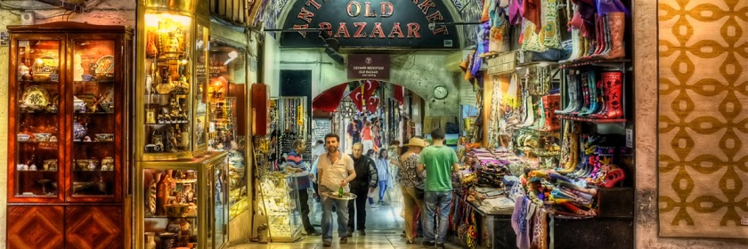 The Grand Bazaar in Istanbul, Turkey Credit: Pedro Szekely/Flickr/Creative Commons