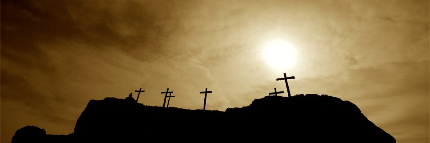 Crosses overlooking Matera, Italy. Credit: Hugh Bell/Flickr/Creative Commons