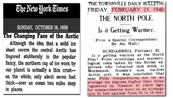 New York Times and newspaper clippings: Credit Real Climate Scientist