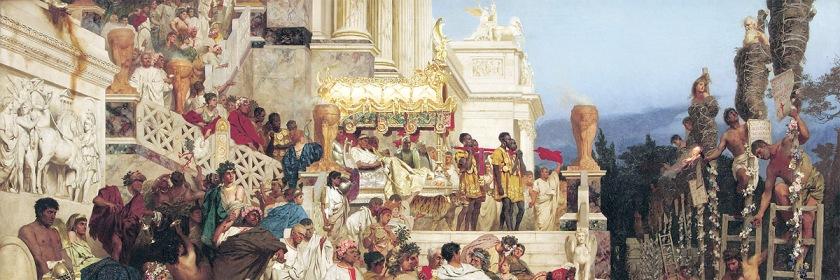 Artists portrayal of Nero's persecution of Christians by Heinrich von Siemiradzki (1843-1902): Wikipedia