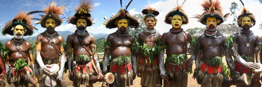 Huli Wigmen tribesmen, Papau, New Guinea Credit: Didrik Johnck/Flickr/Creative Commons