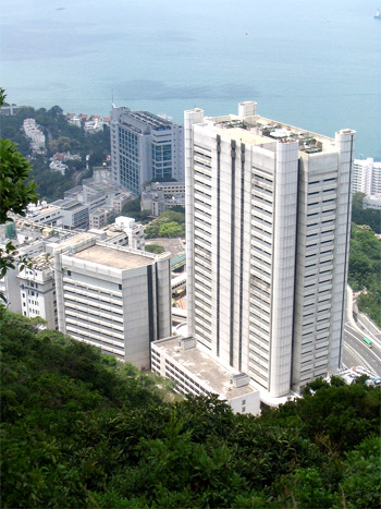 Queen Mary Hospital, Pok Fu Lam Island, Hong Kong Credit: minghong/Wikipedia