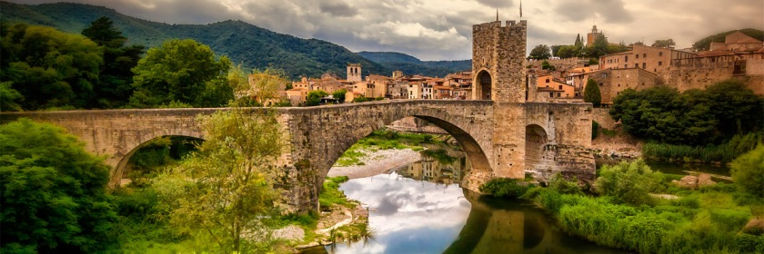 Fortified bridge of the town of Besalu, Spain Credit: Mariluz Rodriguez/Flickr/Creative Commons
