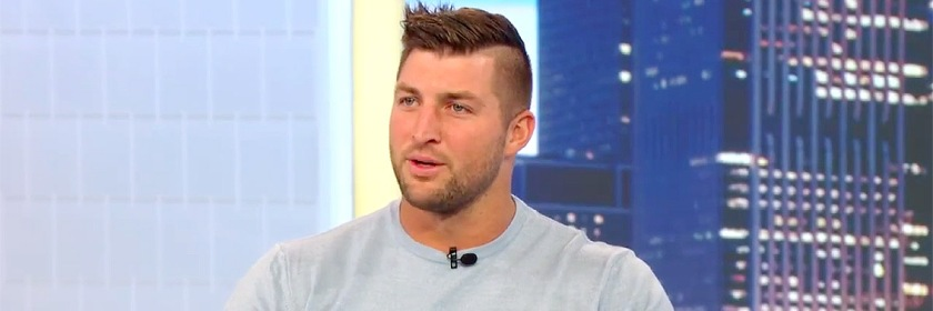 Tim Tebow in his interview with Harry Connick Jr. Credit: Youtube capture
