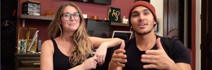 Alexa and Carlos PenaVega sharing on their devotional Vlog WOW (Words of Wisdom): Credit YouTube Capture
