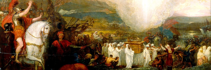 Painting of Israel carrying the Ark of the Covenant into the Promised Land under Joshua by Benjamin West (1738 -1820) Credit: Wikipedia