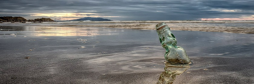 Message in a bottle Credit: Kev Lewis/Flickr/Creative Commons