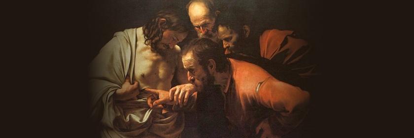 Doubting Thomas by Caravaggio (1571 - 1610): Wikipedia