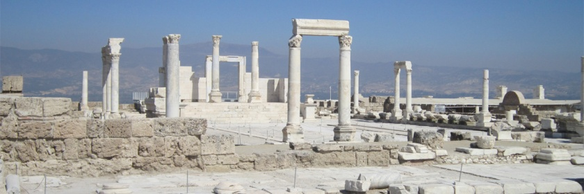 Ruins of temples used in Imperial cult worship in Laodicea, Turkey Credit: Richard Munden/Flickr/Creative Commons