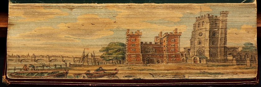 Ancient rendering of Lambeth Palace (L) and St. Mary-at-Lambeth (R) Credit: Boston Public Library/Flickr/Creative Commons