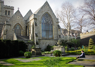 St Mary-at-Lambeth today now home to the Garden Museum Credit: kotomi_/Flickr/Creative Commons