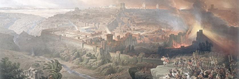 The Siege of Jerusalem by David Roberts (1764-1864) Source: Wikipedia