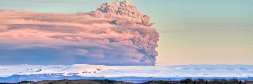 The plume from the 2010 eruption of Iceland's Eyjafjallajökull volcano. Credit: Gunnlaugur por Briem/Flickr/Creative Commons