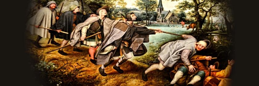 Blind leading the blind by Francesco Pieter Brueghel the elder (1525-1569) Credit: Choo Yut Shing/Flickr/Creative Commons