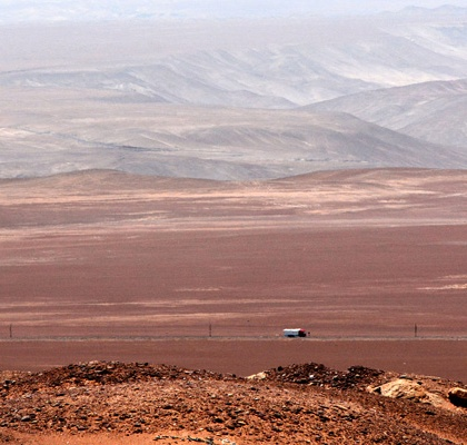 The Peruvian desert, one of the driest places in the world. Credit: Mariano Mantel/Flickr/Creative Commons