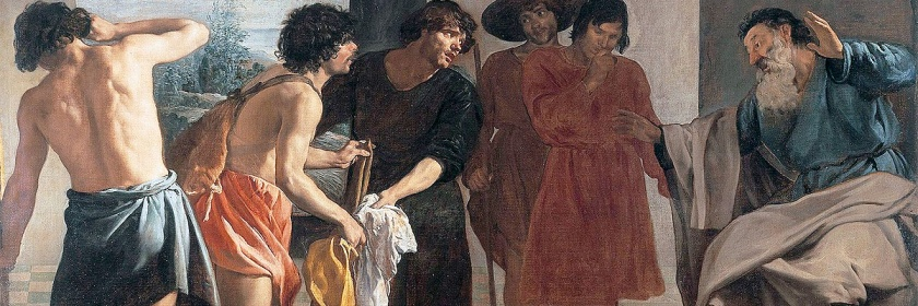 Jacob's sons show their father Joseph's cloak telling their father Joseph was killed by a wild animal Credit: Wikipedia Painting by Diego Velazquez (1599-1660)